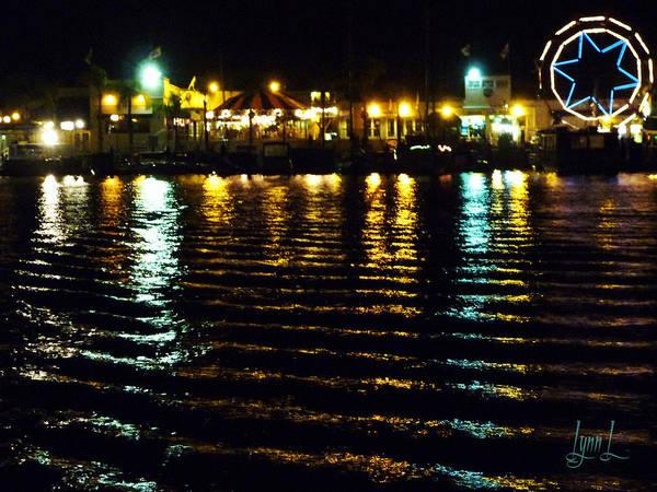 Newport Bay Art Print featuring the photograph Balboa Night by S Lynn Lehman