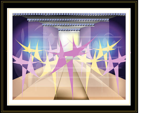 Dance Art Print featuring the digital art Ballet by George Pasini