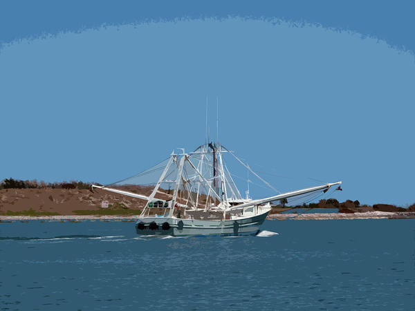 Florida Art Print featuring the painting Band Of Gold Departing Port Canaveral by Allan Hughes