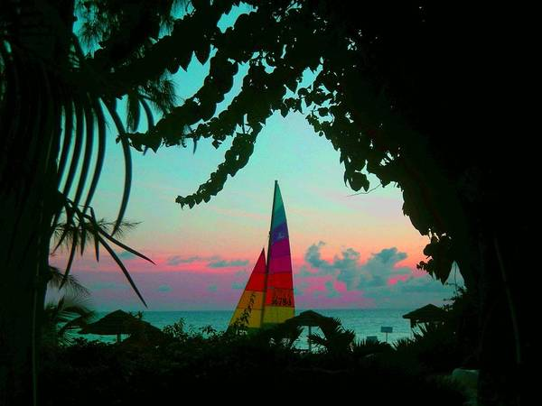 Barbados Art Print featuring the photograph Barbados In Supercolor by Caroline Urbania Naeem