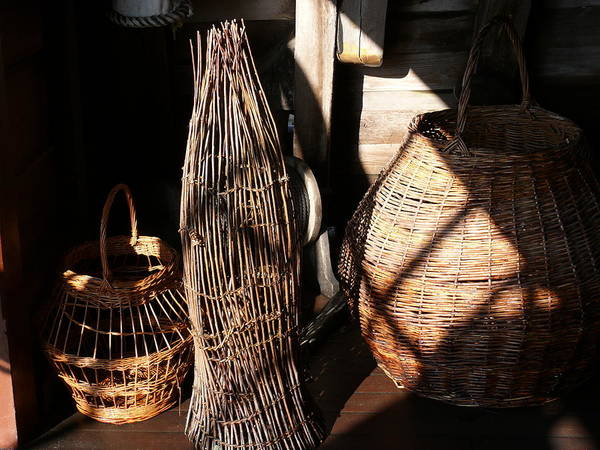 Basket Art Print featuring the photograph Baskets by Mark Grayden