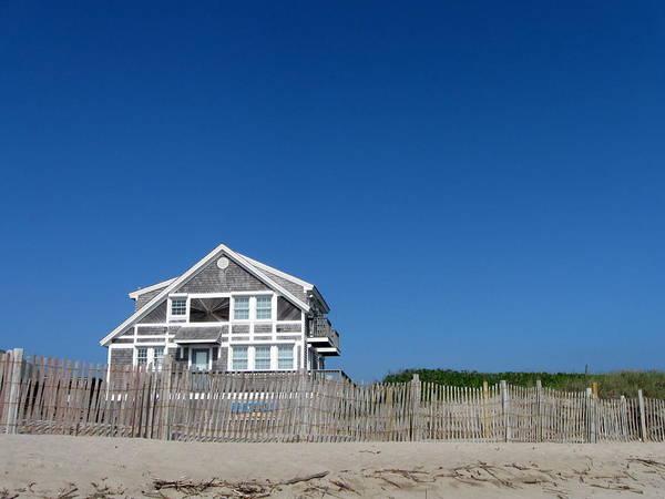 Beach Art Print featuring the photograph Beach House by Annie Babineau
