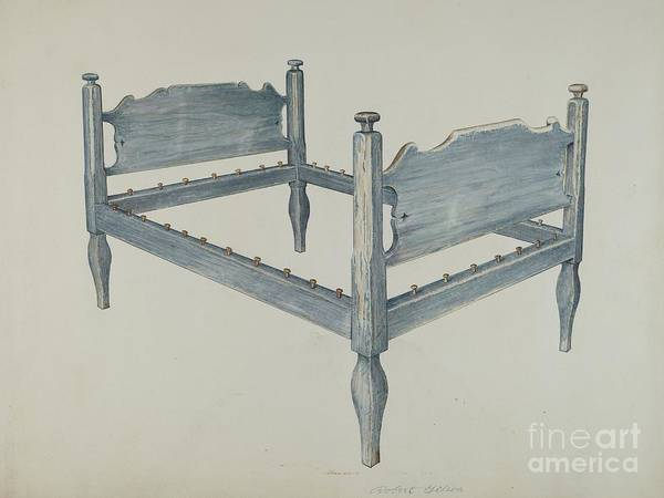 Art Print featuring the drawing Bedstead by Robert Gilson