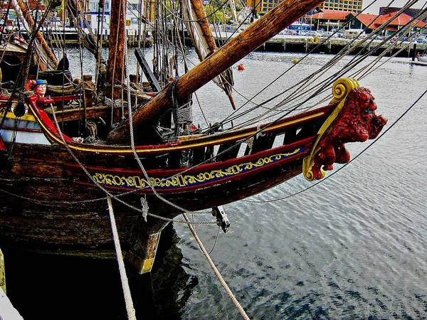 Wooden Ship Art Print featuring the photograph Before Setting Sail by Douglas Barnard