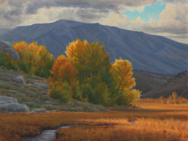 Auntumn Art Print featuring the painting Before The Snow by Joe Mancuso