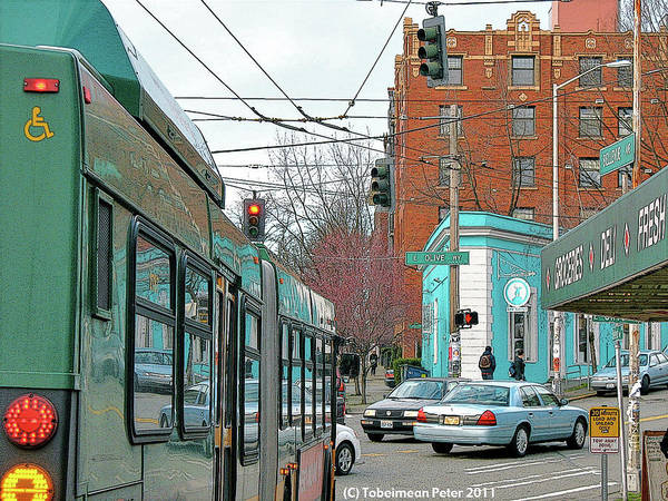 Bellevue Avenue Art Print featuring the photograph Bellevue And Olive by Tobeimean Peter