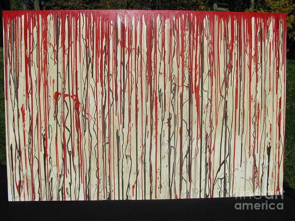 Blood Art Print featuring the painting Betrayal by Jacqueline Athmann
