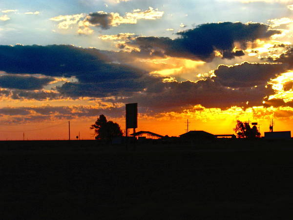 Sun Art Print featuring the photograph Big Sky Texas Style by Denise Lowery