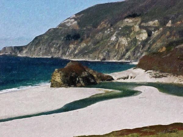 California Art Print featuring the painting Big Sur California by Teresa Mucha