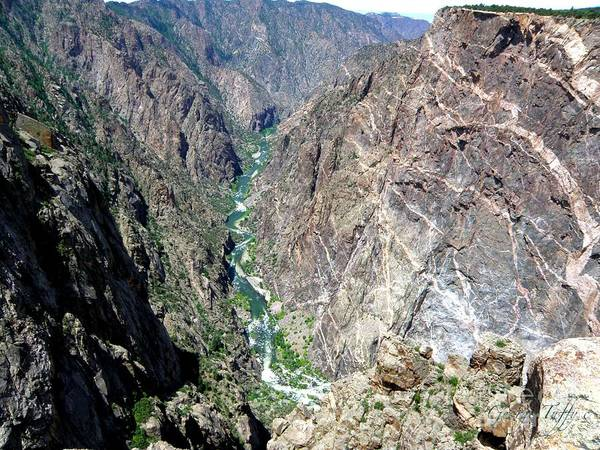 Black Canyon Gunnison River Colorado Rocky Mountains River Canyon Art Print featuring the photograph Black Canyon by George Tuffy