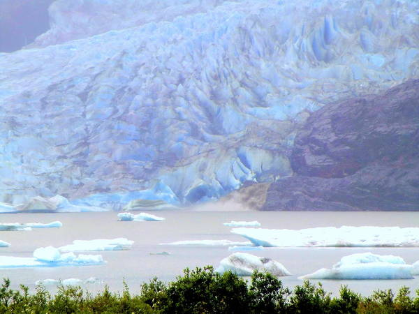 Glacier Art Print featuring the photograph Blue Glacier by Mindy Newman