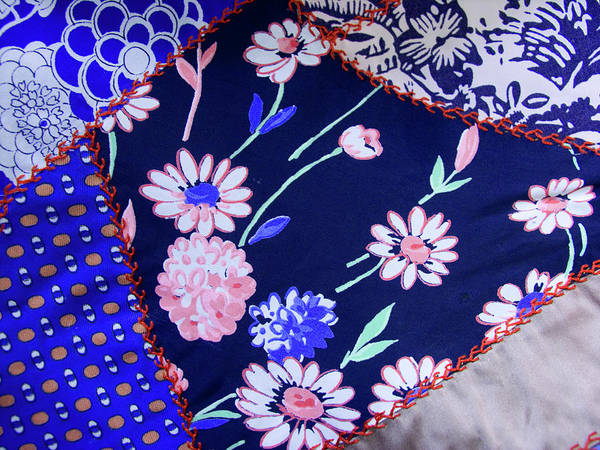 Quilt Art Art Print featuring the photograph Blue On Blue by Bonnie Bruno