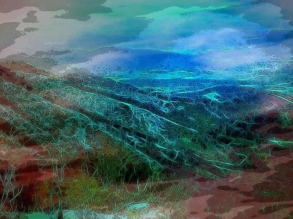 Blue Ridge Mountains Virginia Usa Shenandoah Valley Landscape Panorama Art Print featuring the digital art Blue Ridge Mountains by Susan Epps Oliver