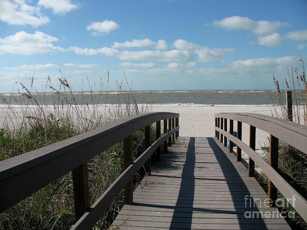 Boardwalk Art Print featuring the photograph Boardwalk To The Beach by Christiane Schulze Art And Photography