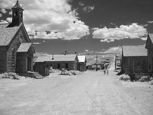 Ghost Town Art Print featuring the photograph Bodie A Ghost Town Infrared by Christine Till