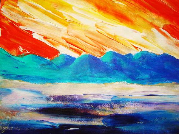 Bright Art Print featuring the painting Bold Day by Melinda Etzold