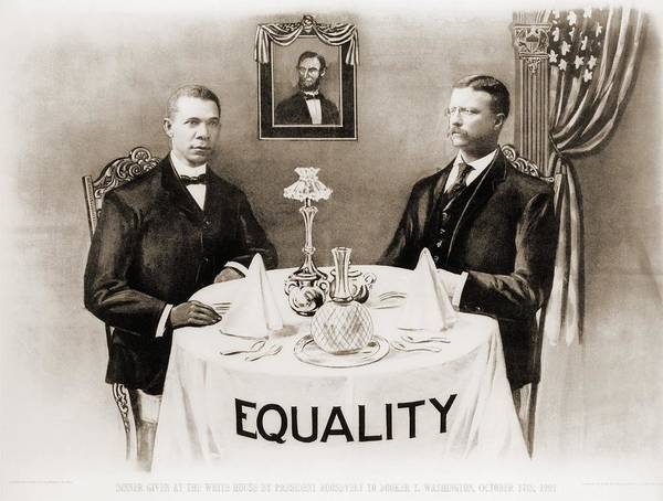 History Art Print featuring the photograph Booker T. Washington Dines by Everett