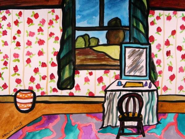 Window Art Print featuring the painting Boudoir by John Williams