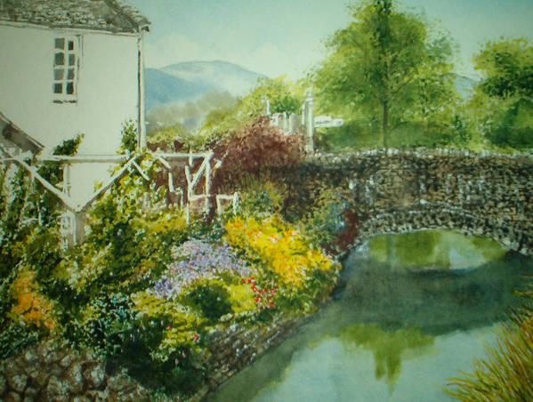 Landscape Art Print featuring the painting Braithwaite Bridge by Shirley Braithwaite Hunt