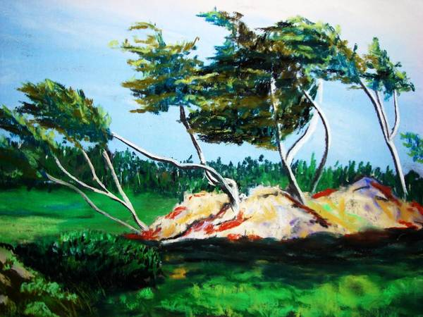 California Art Print featuring the painting Breezy by Melinda Etzold