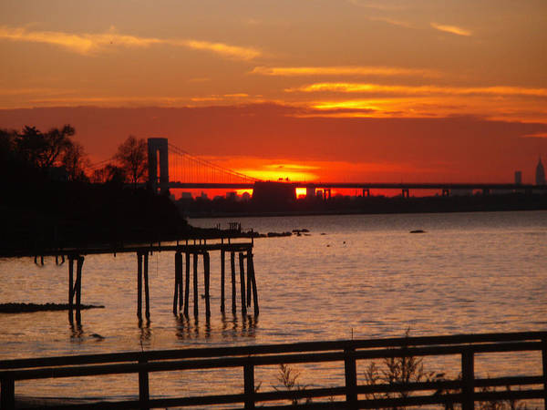 Photography Art Print featuring the photograph Bridge Sunset by Bill Ades