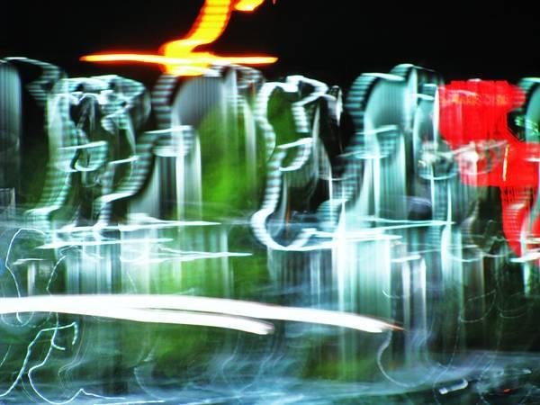 Lights Art Print featuring the photograph Broadway Lights by Gail Sheley - Davenport