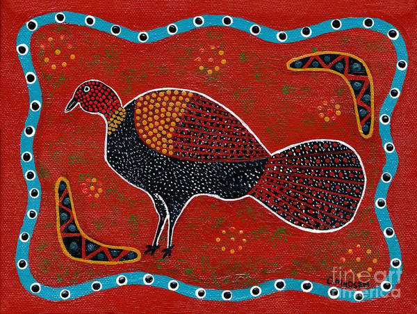 Brushturkey Art Print featuring the painting Brush Turkey by Clifford Madsen