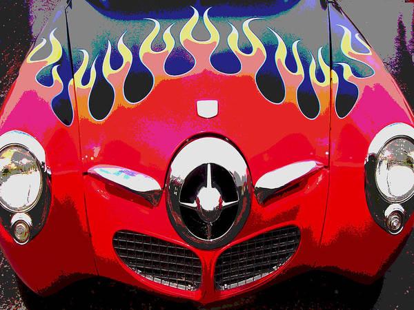 Car Artwork Art Print featuring the photograph Bullet Nose Studebaker by Audrey Venute