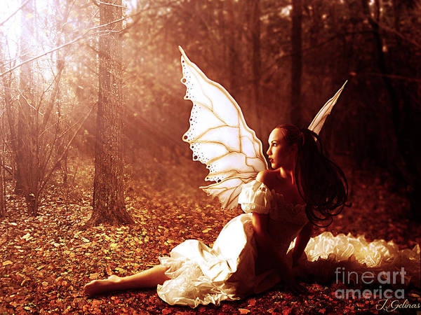Fairy Art Print featuring the digital art Called Home by Jennifer Gelinas