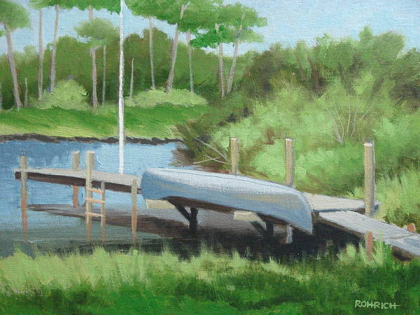 Canoe Art Print featuring the painting Canoe Dock by Robert Rohrich