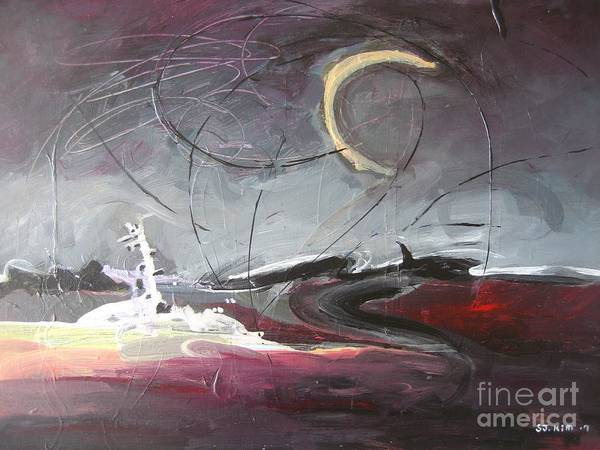 Abstract Paintings Art Print featuring the painting Cape St. Mary by Seon-Jeong Kim