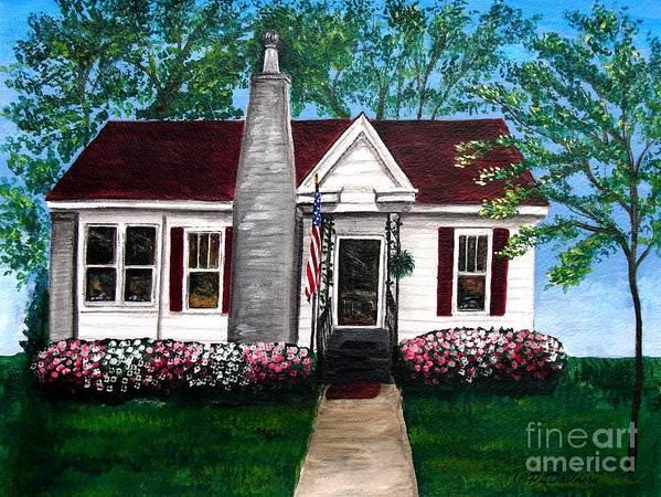 Carolina Art Print featuring the painting Carolina Home by Patricia L Davidson