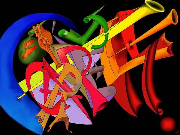 'carpe Diem' Art Print featuring the digital art Carpe Diem II by Helmut Rottler