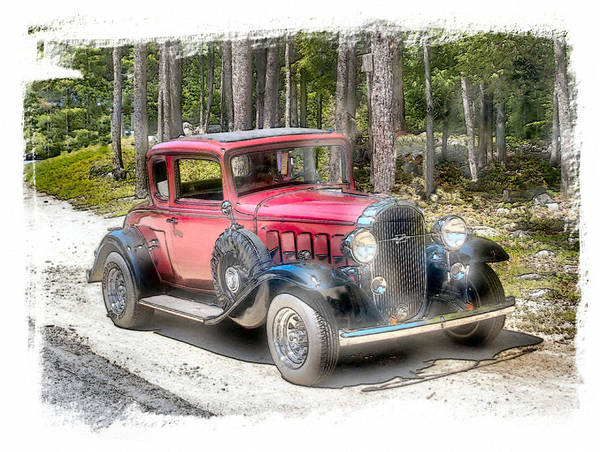 Vehicle Art Print featuring the photograph Cherry Wine by Rose Guay
