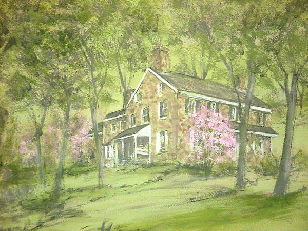 Landscape Art Print featuring the painting Chester Springs by David Bruce Michener