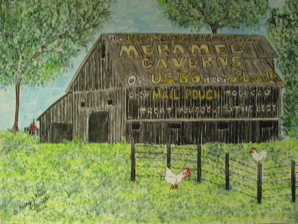 Chew Mail Pouch Art Print featuring the painting Chew Mail Pouch Barn by Kathy Marrs Chandler