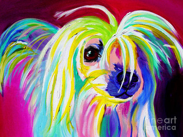 Dog Art Print featuring the painting Chinese Crested - Fancy Pants by Alicia VanNoy Call