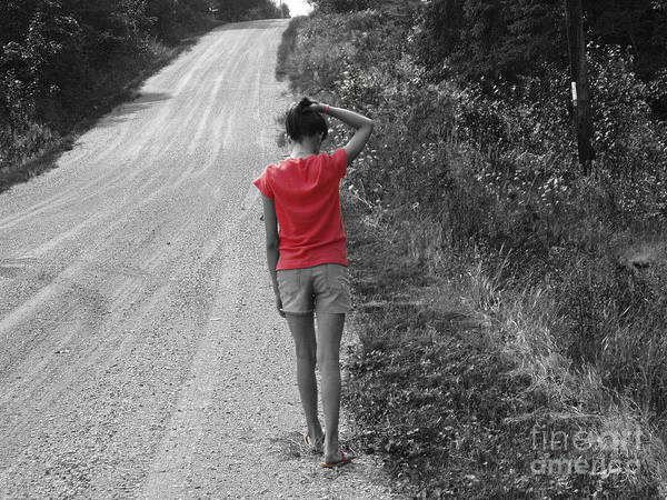 Road Art Print featuring the photograph Choose Your Own Path by Cathy Beharriell