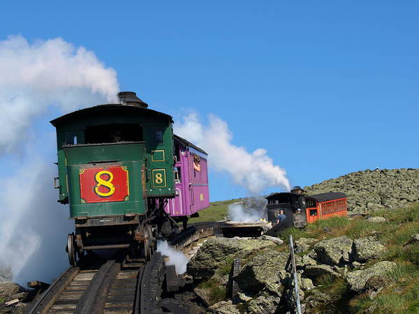 Trains Art Print featuring the photograph Chugging Up by Peter Gray