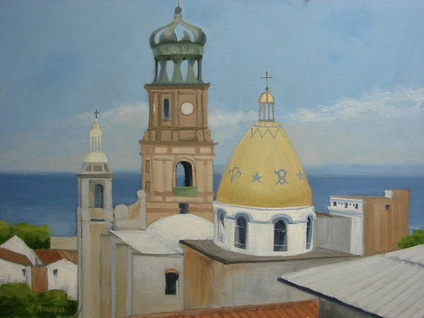 Mexico Art Print featuring the painting Church Of Gaudalupe by Robert Rohrich