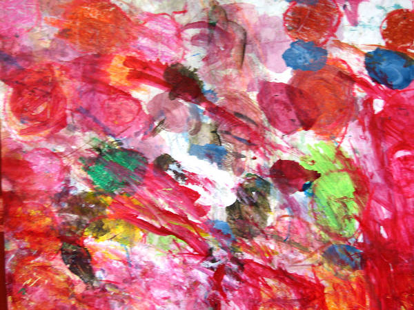 Abstract Art Print featuring the painting Circles by Kitty Hansen