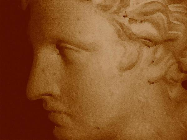 Sepia Art Print featuring the photograph Classical Head by Susan Grissom