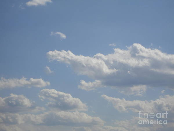 Clouds Art Print featuring the photograph Clouds In The Sky One by Daniel Henning