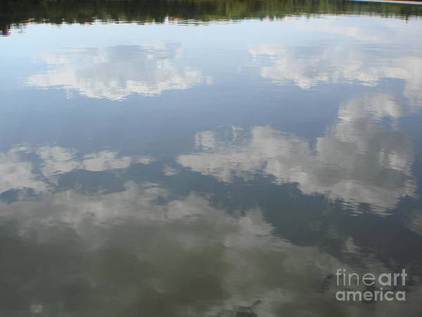 Sky Art Print featuring the photograph Clouds Reflection by PJ Cloud