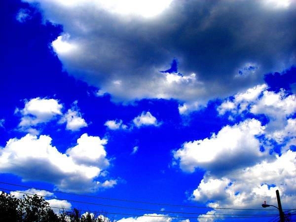 Photograp Prints Art Print featuring the photograph Clouds Study 1 by Teo Santa