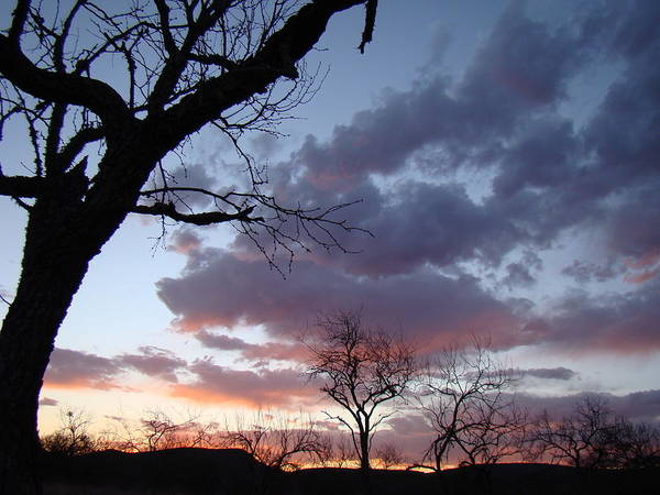 Sunset Art Print featuring the photograph Cloudy Sunset One by Ana Villaronga
