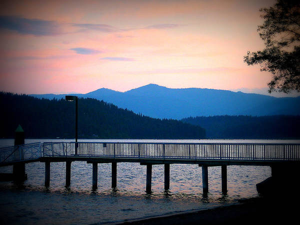 Sunset Art Print featuring the photograph Coeur D'alene Sunset by Arabella Marie