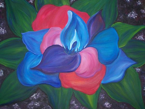 Flower Art Print featuring the painting Colorful Am I by Wendy Smith