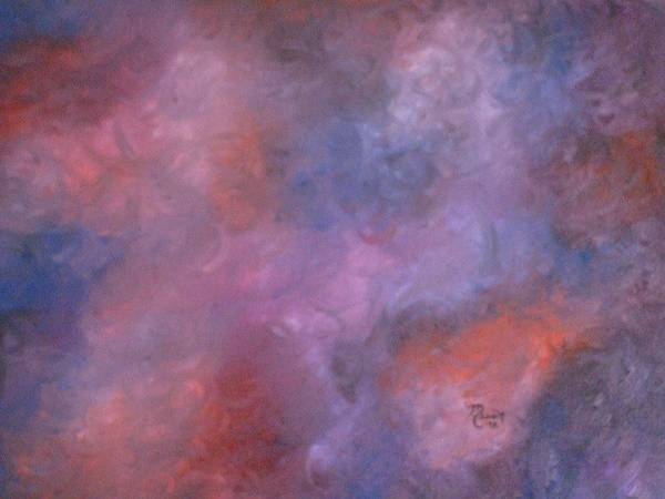 Abstract Art Art Print featuring the painting Colors by Guillermo Mason