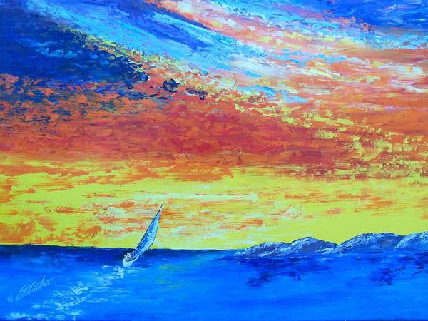 Landscape Art Print featuring the painting Colors Of Florida by Dennis Vebert